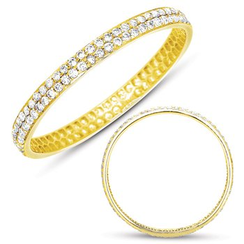 Yellow Gold Pave Band