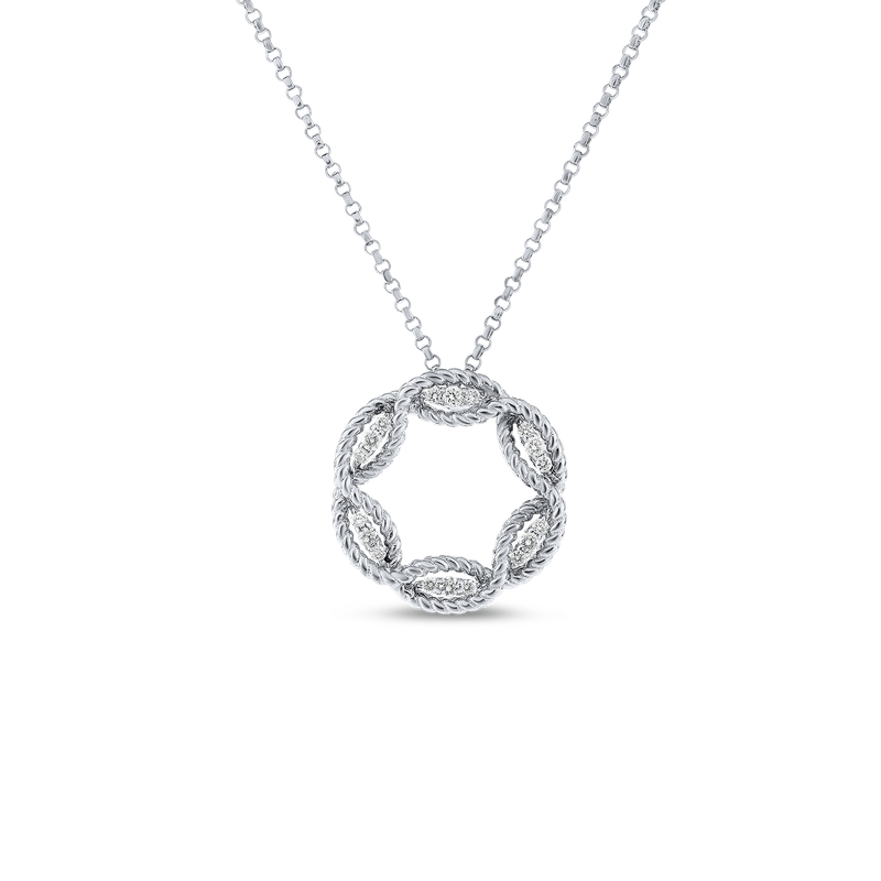 Roberto Coin  #19366 Of Medium Diamond Circle Necklace