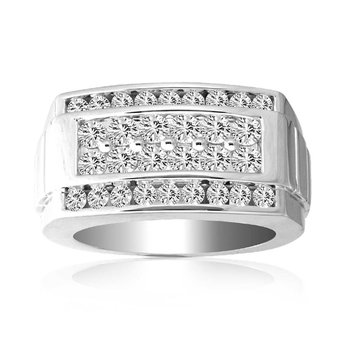 14K 2.00Ct Diam Mens Ring