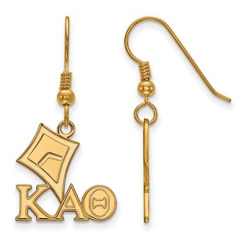Gold-Plated Sterling Silver Kappa Alpha Theta Greek Life Earrings