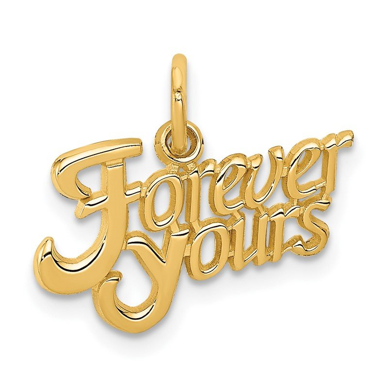 Quality Gold 14K FOREVER YOURS Charm