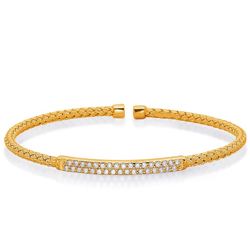 S. Kashi  & Sons Yellow Gold Bangle Italian Made