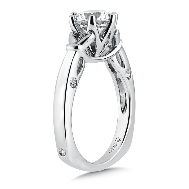 Caro74 6-Prong Center Solitaire Engagement Ring in 14K White Gold (1-1/2ct. tw.)