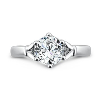 6-Prong Center Solitaire Engagement Ring in 14K White Gold (1-1/2ct. tw.)