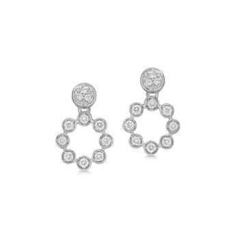White Gold & Diamond Snowflake Earrings