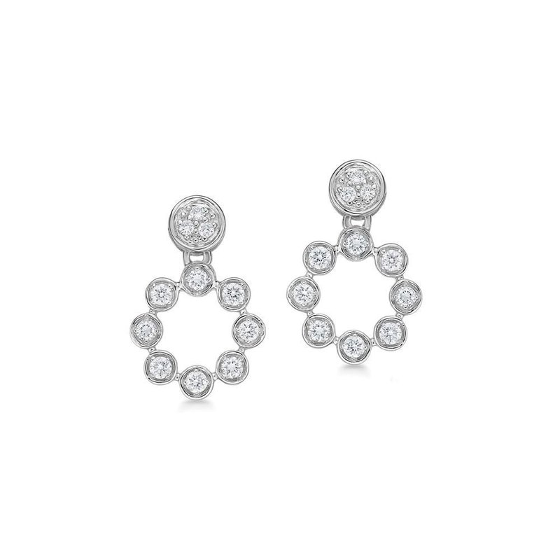 ALOR White Gold & Diamond Snowflake Earrings
