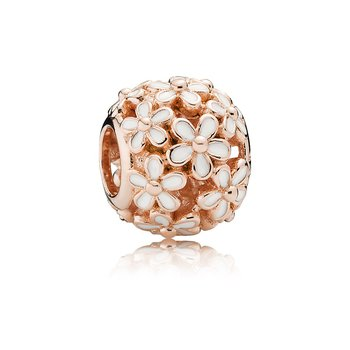 Darling Daisy Meadow, Pandora Rose™ White Enamel