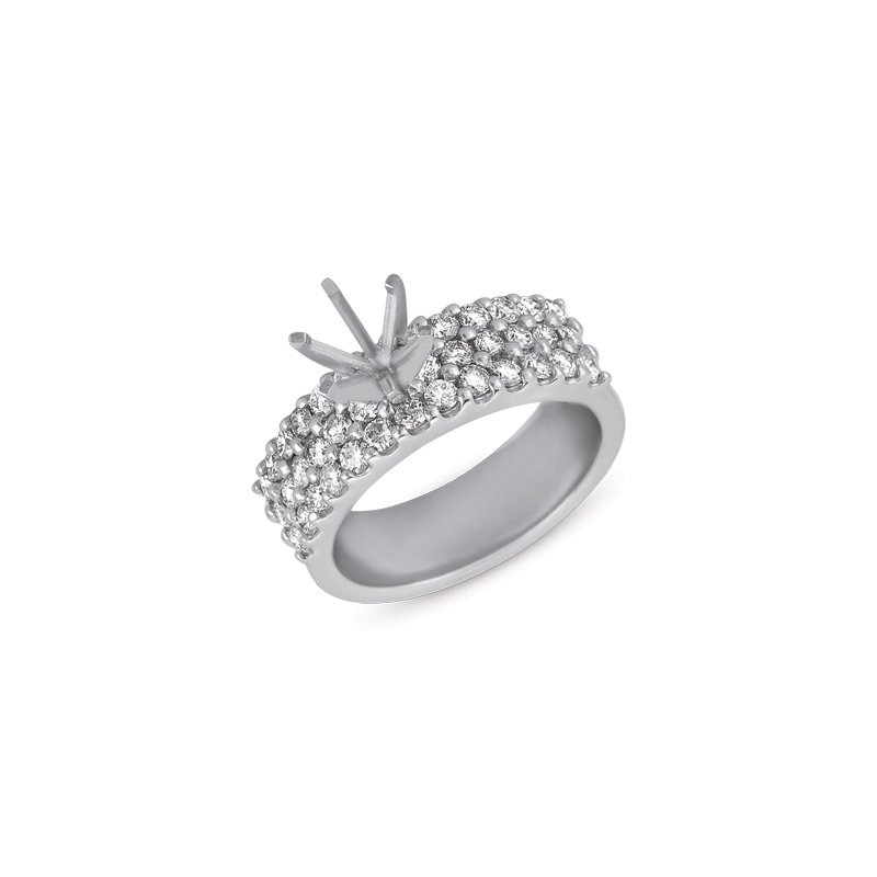 MAZZARESE Bridal Platinum Engagement Ring