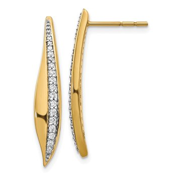 14k Diamond Post Earrings