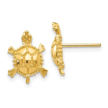 14k Turtle Post Earrings