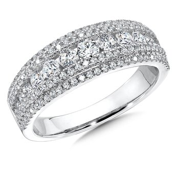 Diamond Ring in 14K White Gold