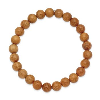 Stretch Taxus Chinesis Bead Wood Bracelet
