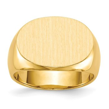 14k 13.0x19.0mm Closed Back Men's Signet Ring