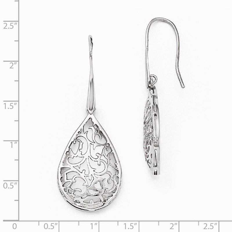 Leslie's Leslie's Sterling Silver Polished Cut-out Teardrop Dangle Earrings