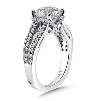 Grand Opulance Collection Split Shank Engagement Ring in 14K White Gold (3 ct. tw.)