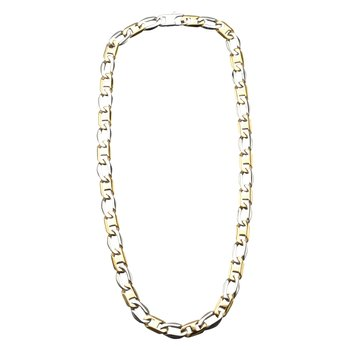 11mm Plated Gold Flat Mariner Link Chain