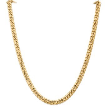 14k 6.75mm Semi-Solid Miami Cuban Chain