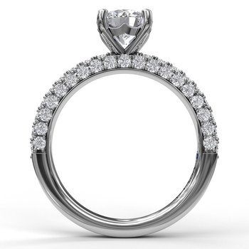 Diamond-Encrusted Engagement Ring