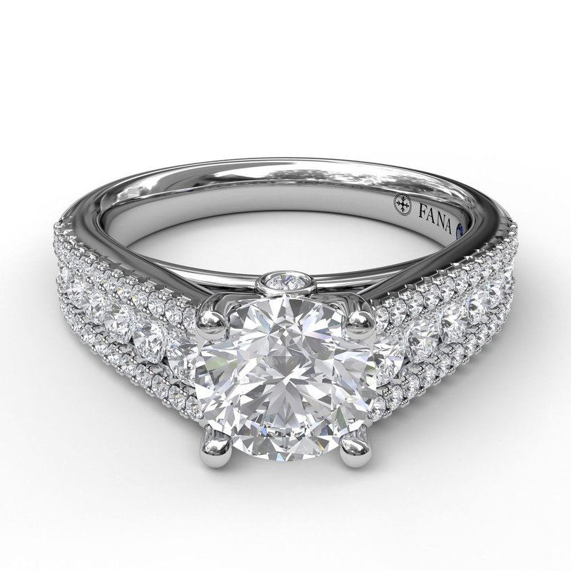 Fana Tapered Shared Prong Engagement Ring