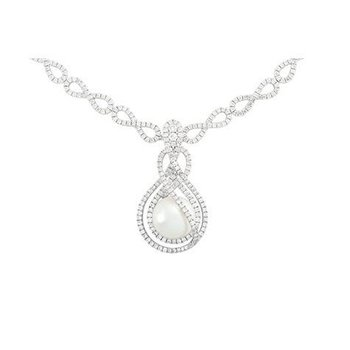 White Pearl Necklace-CNP1214WWH