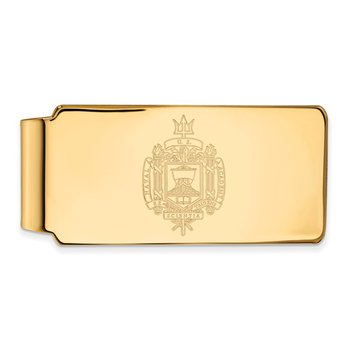 Gold-Plated Sterling Silver United States Naval Academy NCAA Money Clip