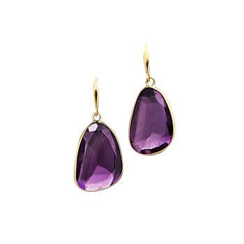Amethyst Single Drop Earrings