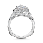 Valina Diamond Halo Engagement Ring Mounting in 14K White Gold (0.60 ct. tw.)