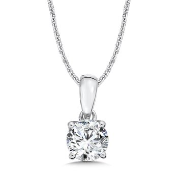 Diamond Solitaire Pendant in 14K White Gold (1-1/4 ct. tw.)