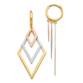Leslie's 14k Tri-Color Earrings