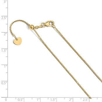 Leslie's 14K 1 mm D/C Open Franco Adjustable Chain