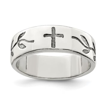 Sterling Silver Cross Design Ring