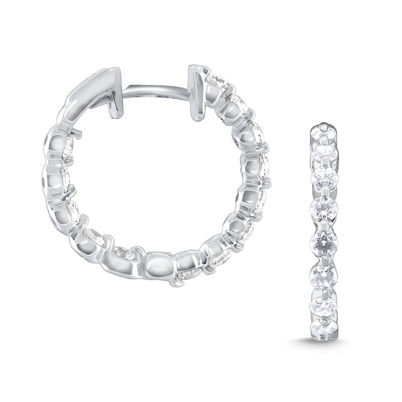 KC Designs 14k Gold and Diamond Inside Out Hoops