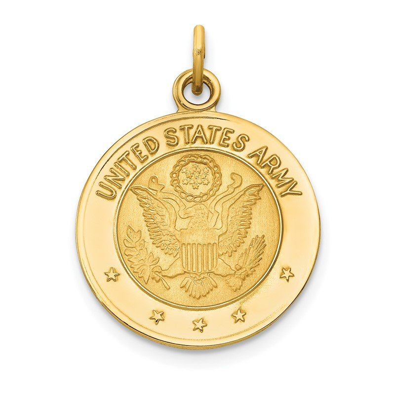 Quality Gold 14k U.S. ARMY Insignia Disc Pendant