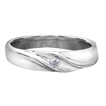 Maple Leaf Diamond Wedding Band