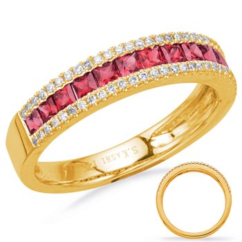 Yellow Gold Ruby & Diamond Ring
