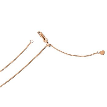 Leslie's 14K Rose Gold Adjustable 1mm Wheat Chain