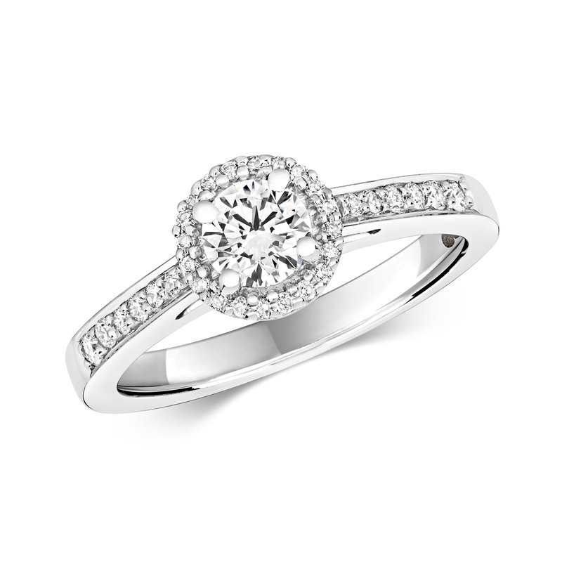 Treasure Diamond Halo Ring