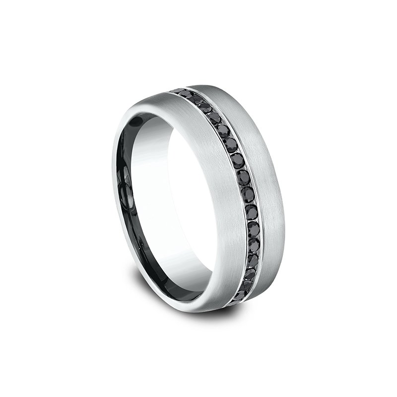 Benchmark Comfort-Fit Black Diamond Wedding Ring
