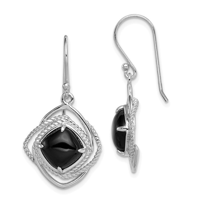 J.F. Kruse Signature Collection Sterling Silver Onyx Dangle Earrings