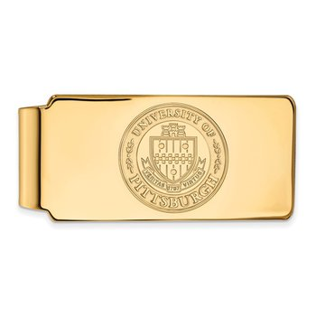 Gold-Plated Sterling Silver University of Pittsburgh NCAA Money Clip