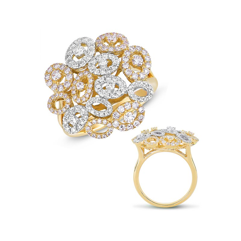 S. Kashi  & Sons White & Yellow Gold Diamond Ring