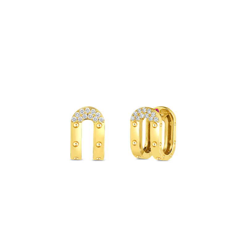 Roberto Coin  #28939 Of 18Kt Gold Double Symphony Pois Moi Earrings