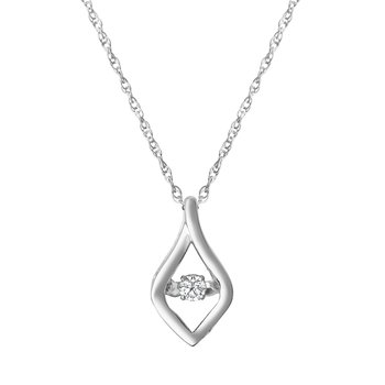 SILVER 1/12CTW HEARTBEAT COLLECTION PENDANT