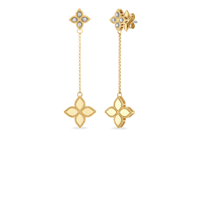 Roberto Coin 18KT GOLD SHORT DROP EARRINGS WITH DIAMONDS