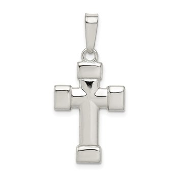 Sterling Silver Polished Cross Pendant