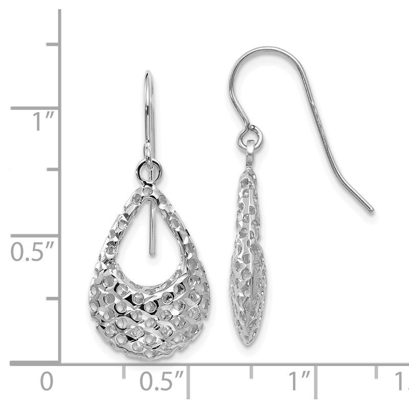 Leslie's Leslie's 14K White Gold Shepherd Hook Earrings