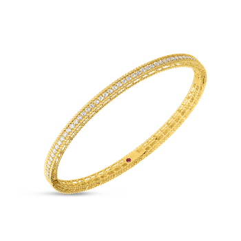 Princess Oval Bangle &Ndash; 18K Yellow Gold