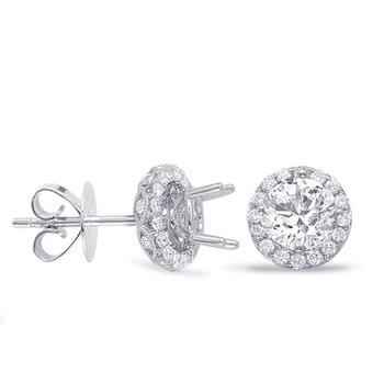 Halo Diamond Earring For 2ct  jacket