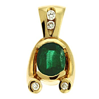Emerald./diamond Pendant