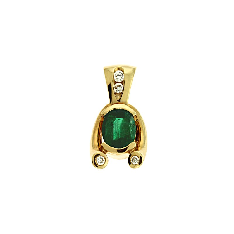 S. Kashi  & Sons Emerald./diamond Pendant